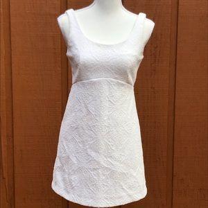 Zara Trafaluc White Sleeveless Textured Knit Dress
